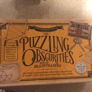A whole box of brain teasers from Cracker Barrel.